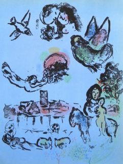 Marc Chagall (1887-1985) lithograph